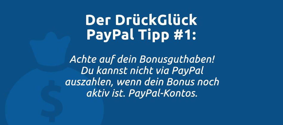 Drückglück Paypal