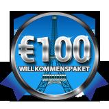 Ihr €100 Willkommenspaket
