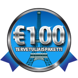 Sinun 100€:n Tervetuliaispaketti