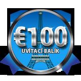 Váš €100 uvítací balík
