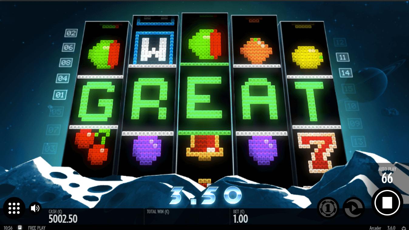 Stacked Zeus symbols on 2nd reel create big win on Zeus 1000 slot online