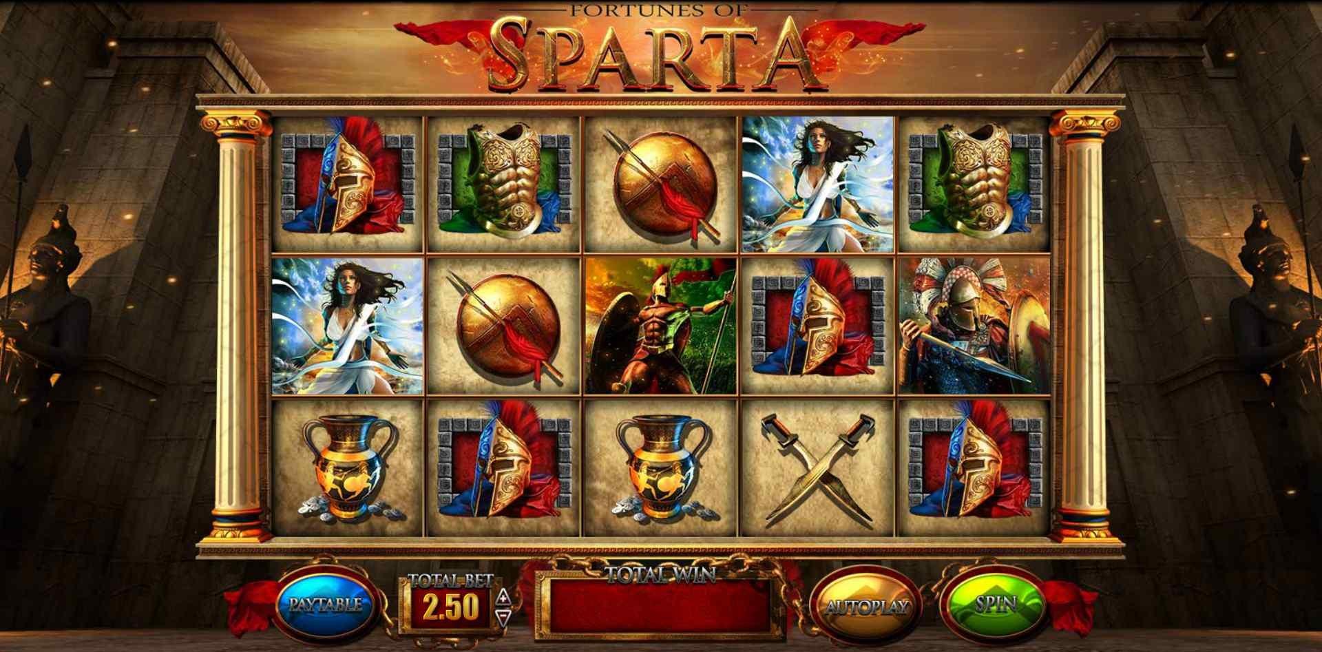 Spartan Streak feature in Blueprint's Fortunes of Sparta online slot