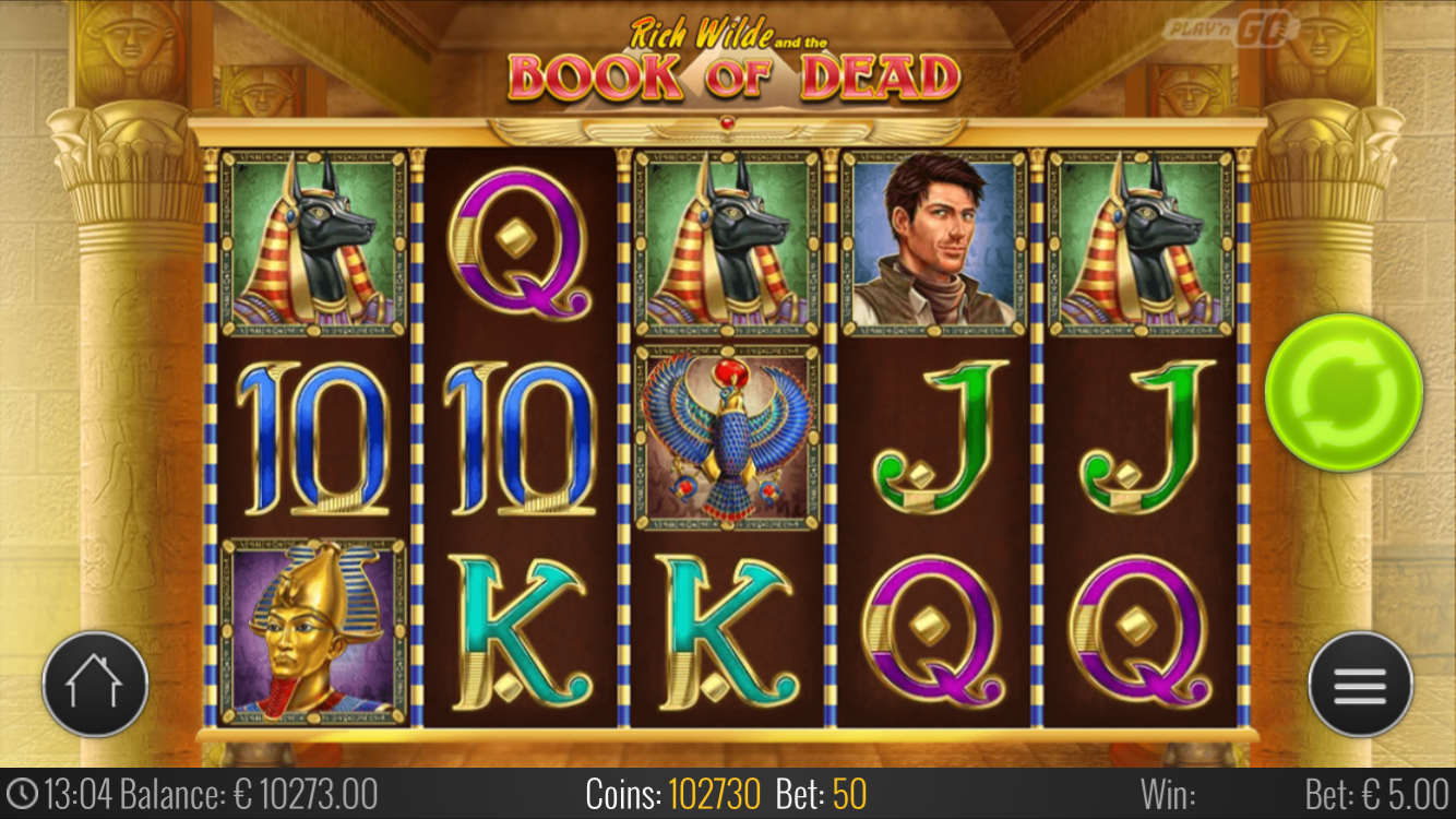 Book Of Dead – 1 Free Spin for every $1 you deposit