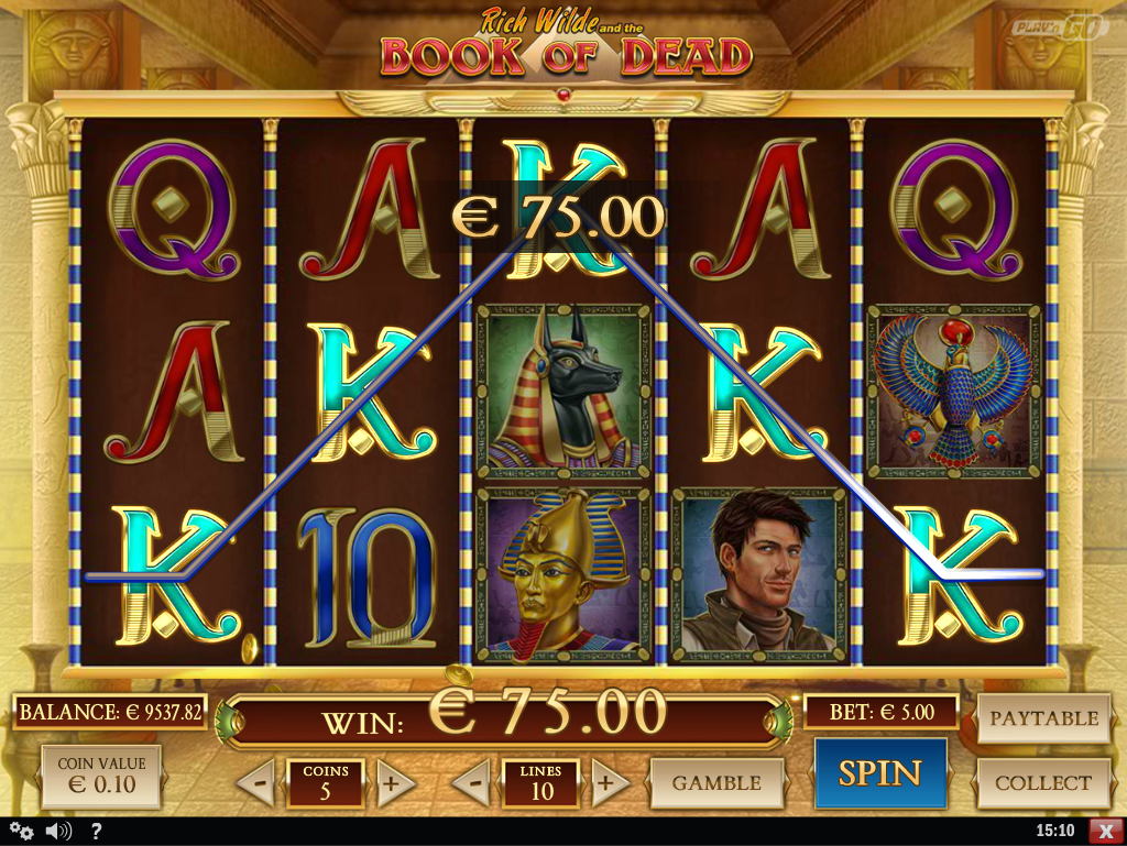 The golden book gives you free spins -Book Of Dead