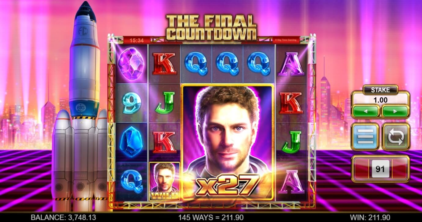 The official Final Countdown video slot at PlayOJO UK online casino