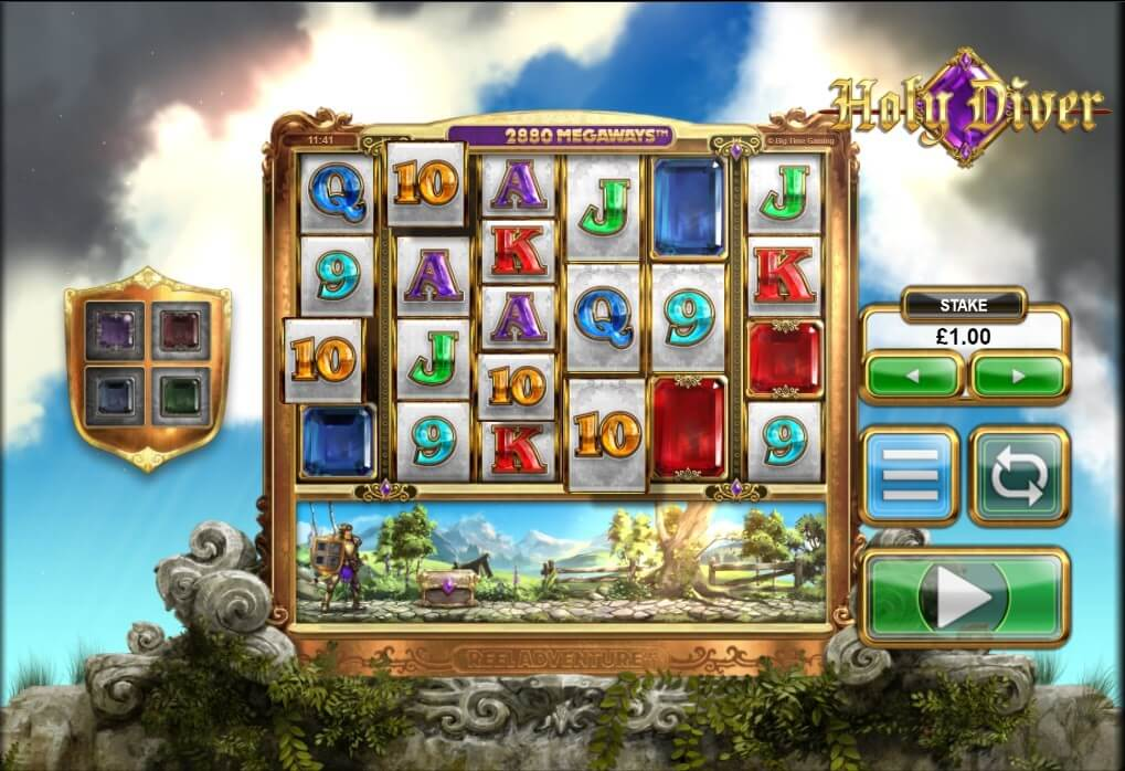 Reels and Reel Adventure mechanic on Big Time Gaming's hit Holy Diver video slot