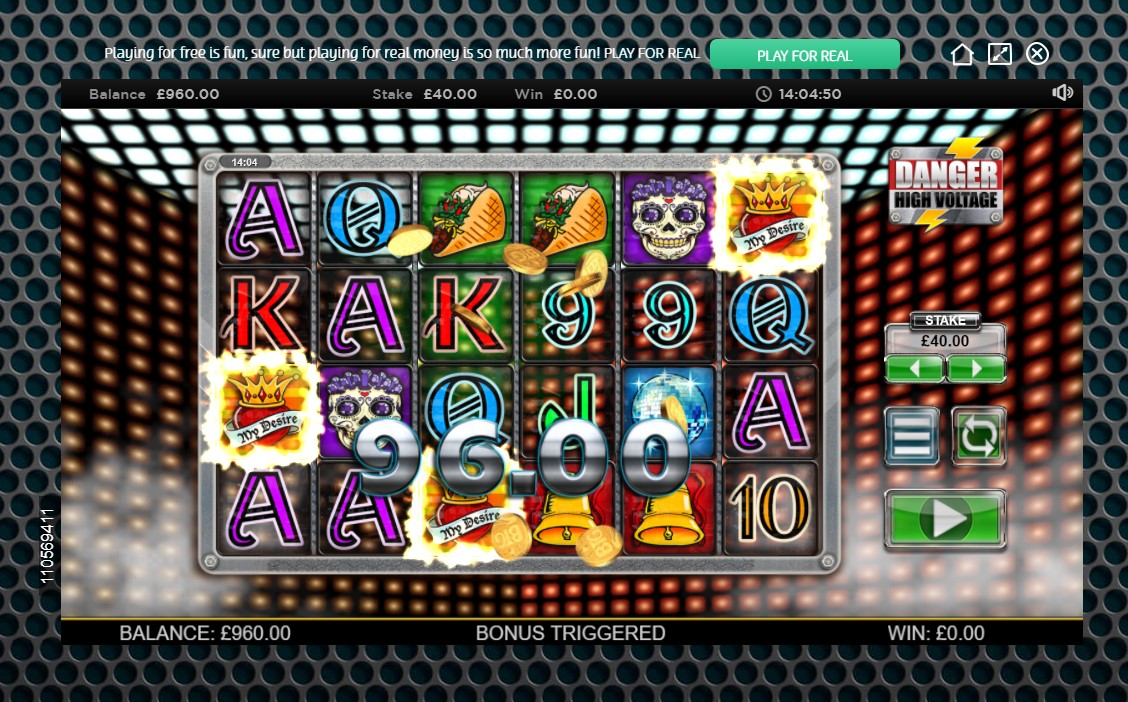 Scatter win during Big Time Gaming's Danger High Voltage video slot