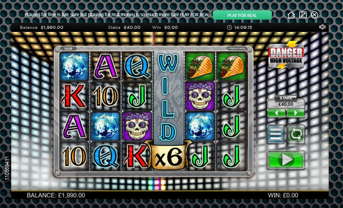 Electric Wild on reel 4 in OJO's Danger High Voltage casino game