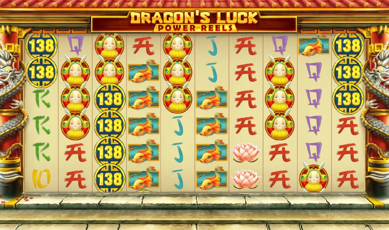 Dragon's Luck Power Reels jackpot slot screeshot