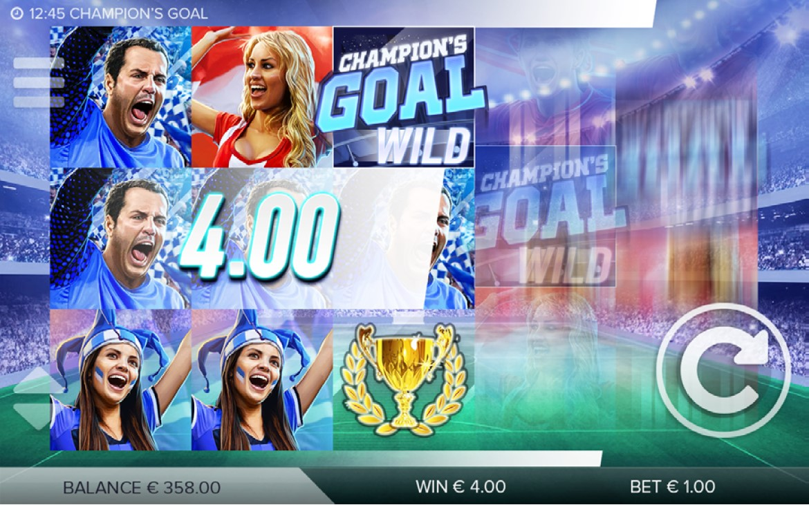 Striking Win Lines feature from Champions Goal online slot