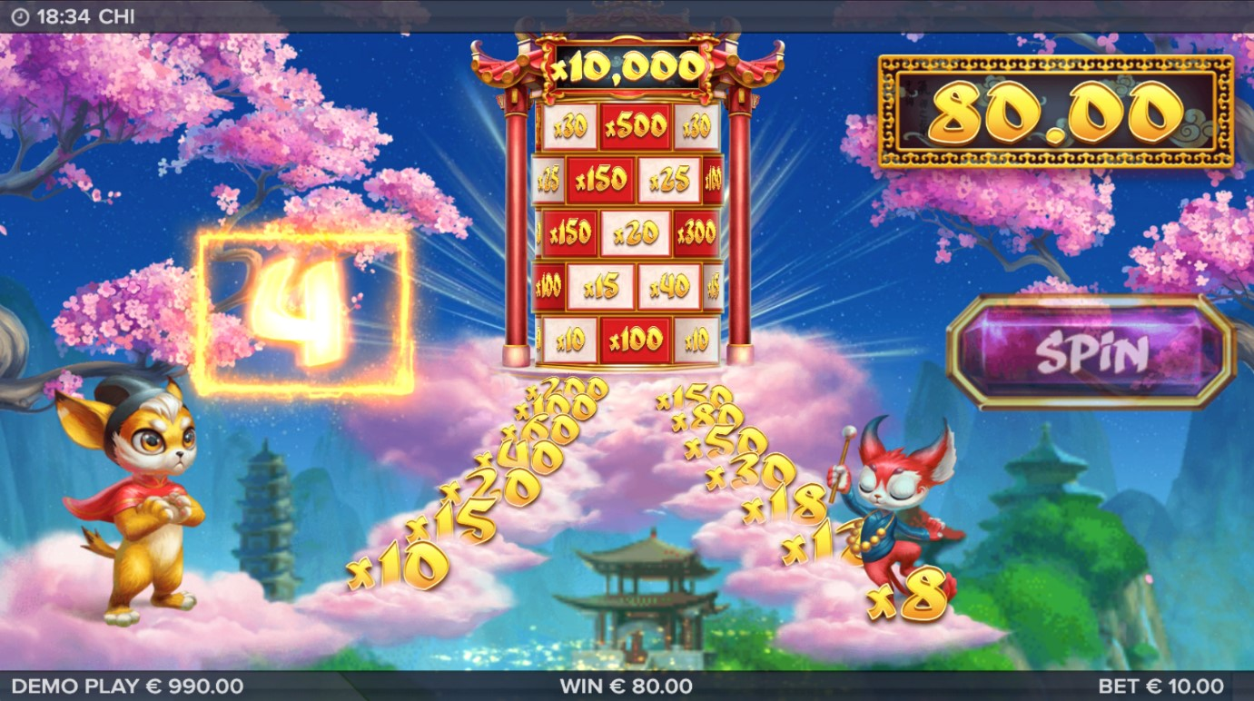 Stairway To Heaven bonus game in Chi online slot