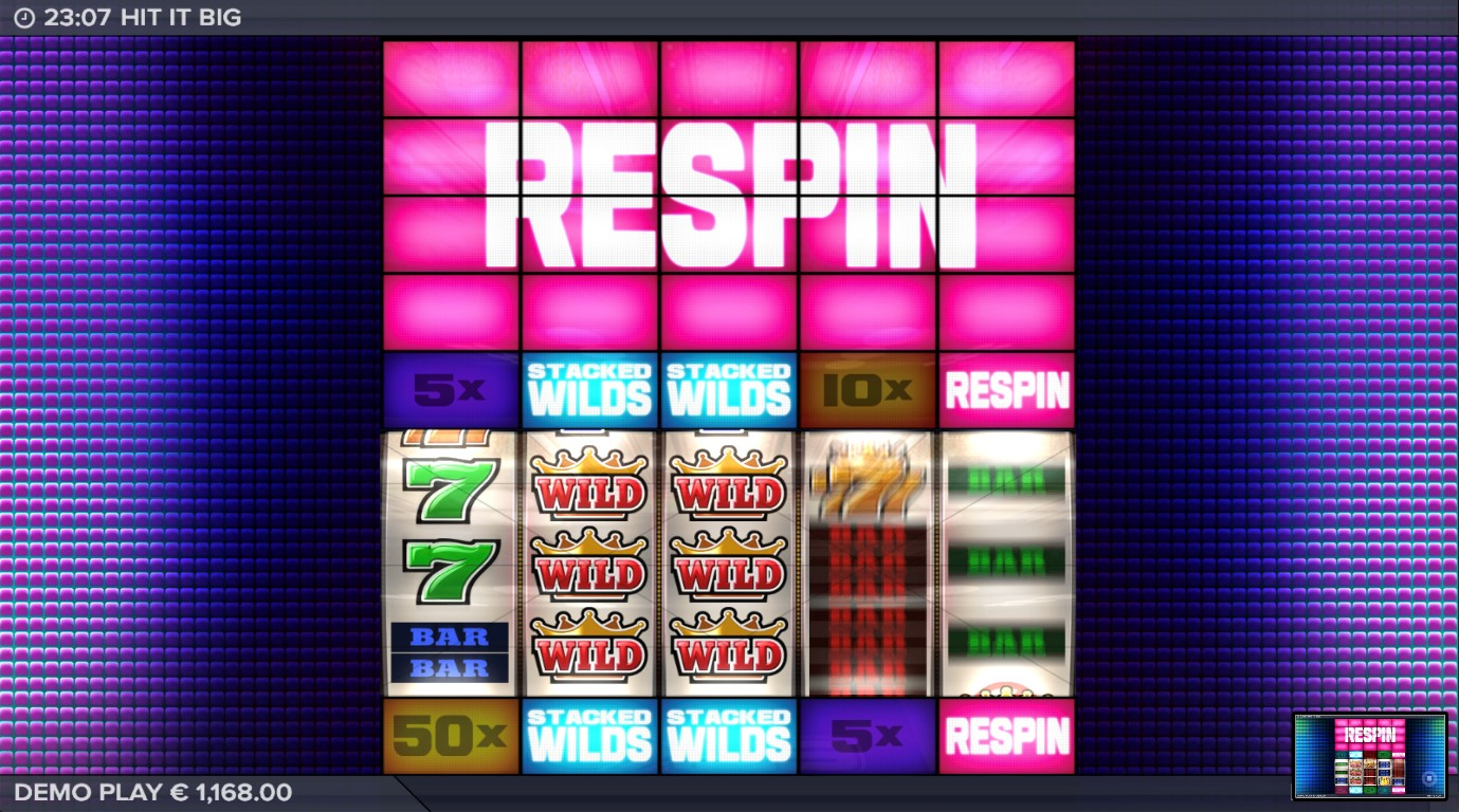 Respin bonus feature from Hit It Big video slot