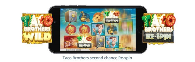 Taco Brothers slot features on mobile
