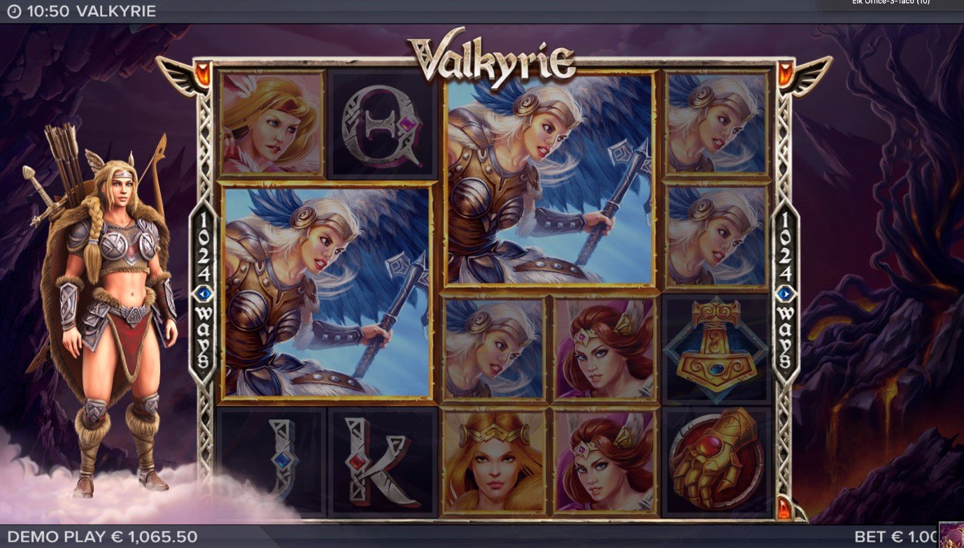 Epic Symbols feature in Valkyrie online slot game by ELK Studios