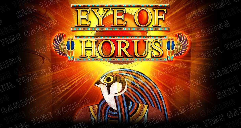 play the Egyptian slots game Eye Of Horus on playOjo