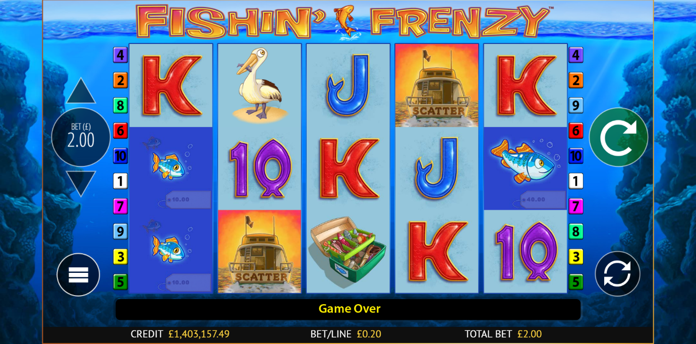 Fishin' Frenzy online slot – free Games feature and a novel theme