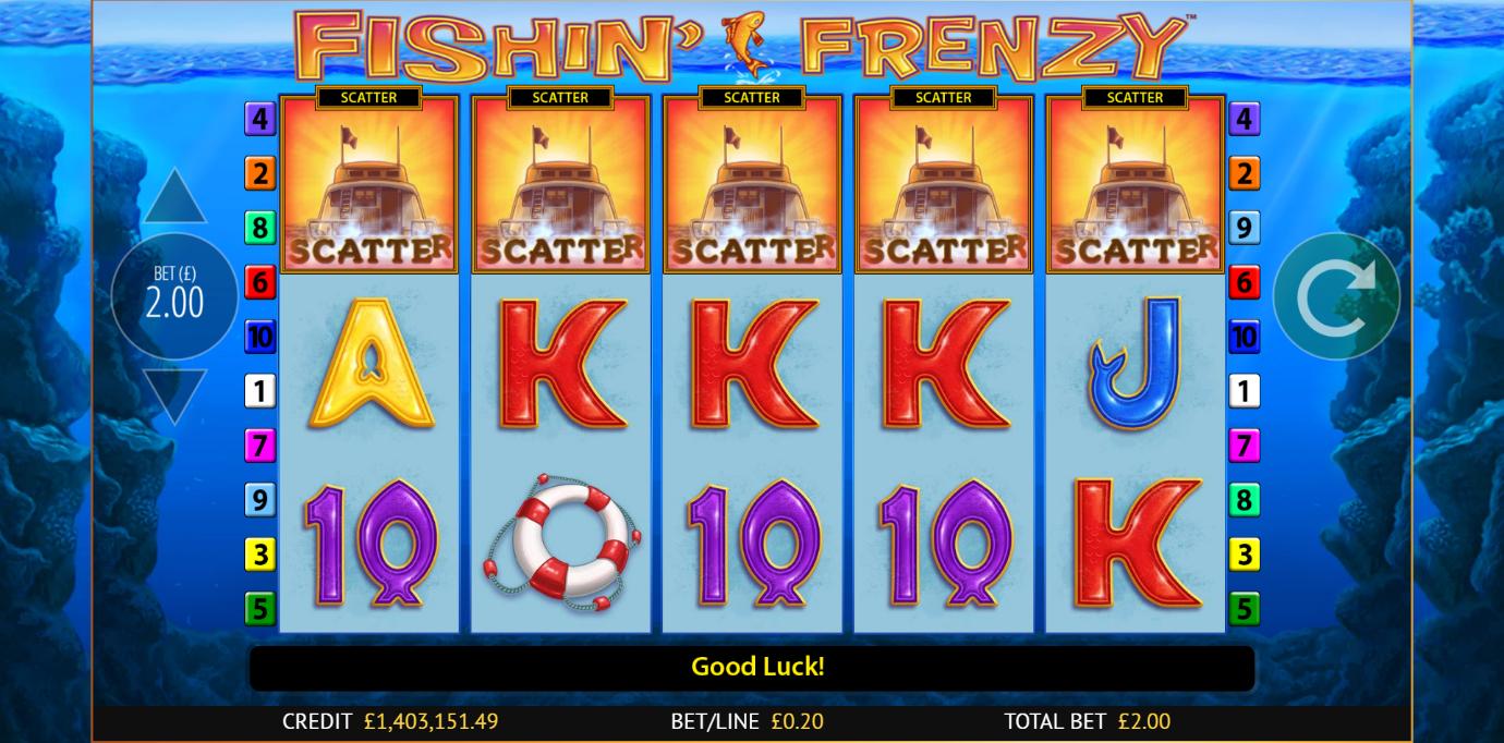 a fairly basic slot on PlayOjo - Fishin' Frenzy