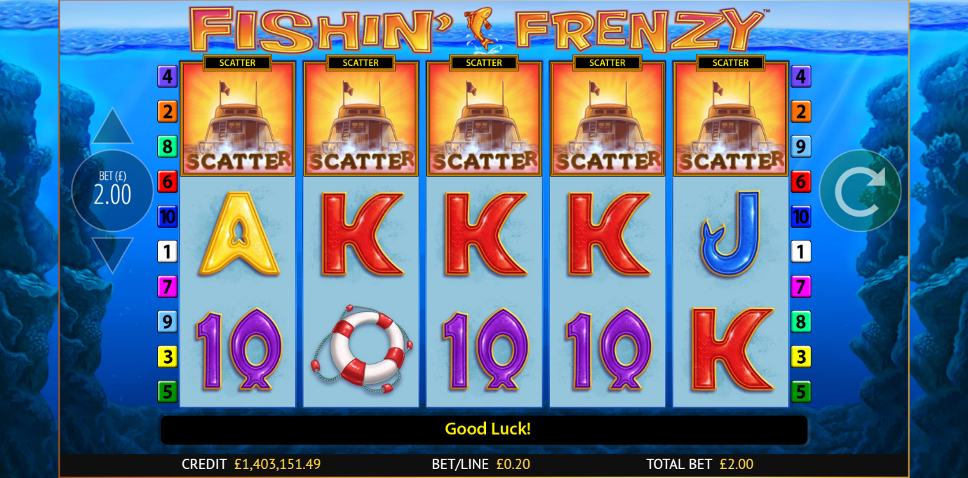 a fairly basic slot on PlayOjo - Fishin' Frenzy