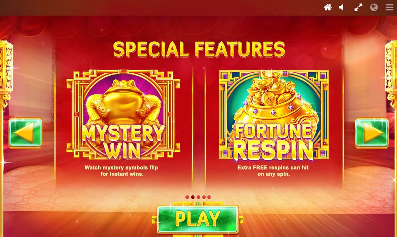 Special Features information from PlayOJO's Fortune House video slot