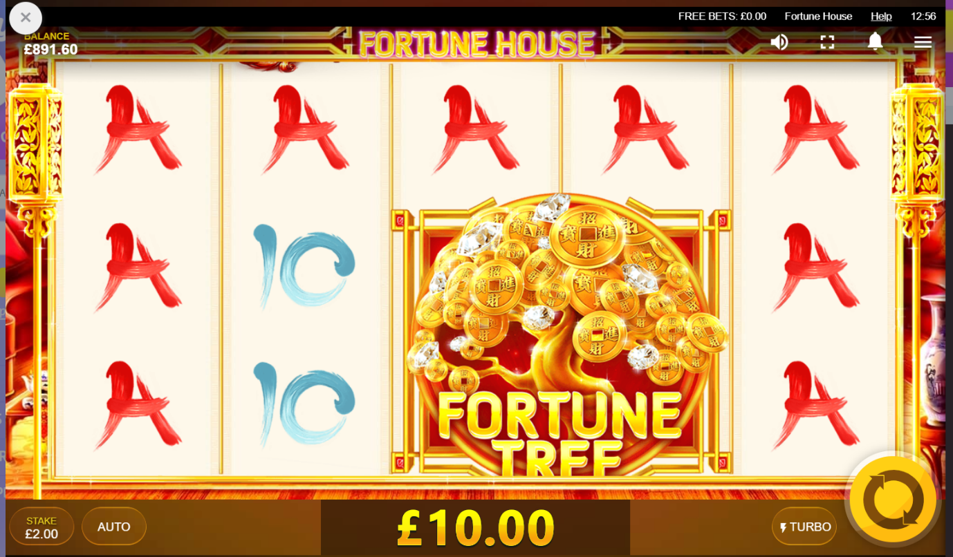 Fortune Tree special feature triggered on PlayOJO's Fortune House video slot