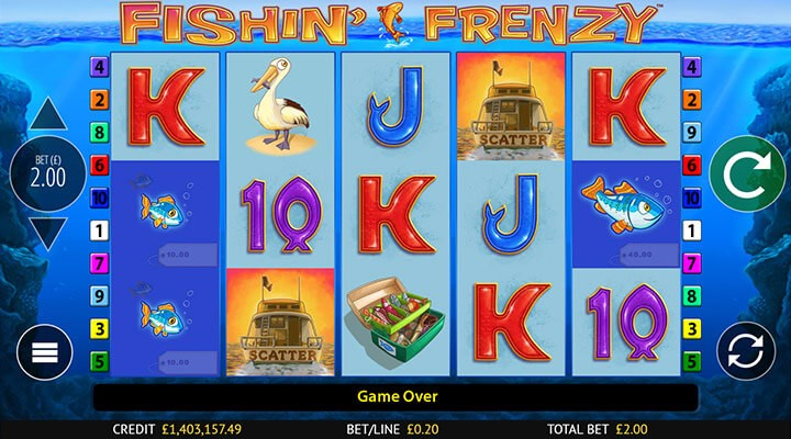 Get up to 15,625 win lines when you play Fishin' Frenzy Megaways at PlayOJO