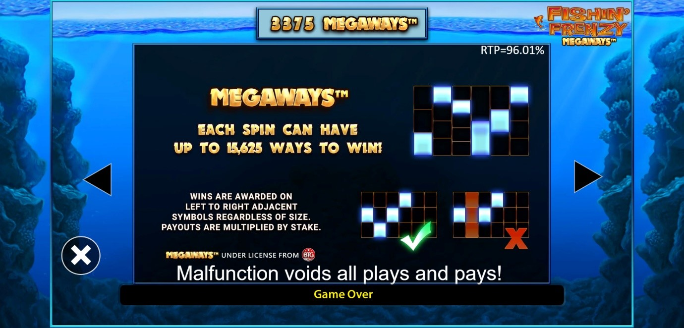 How the Megaways reel mechanic works on Fishin' Frenzy online slot