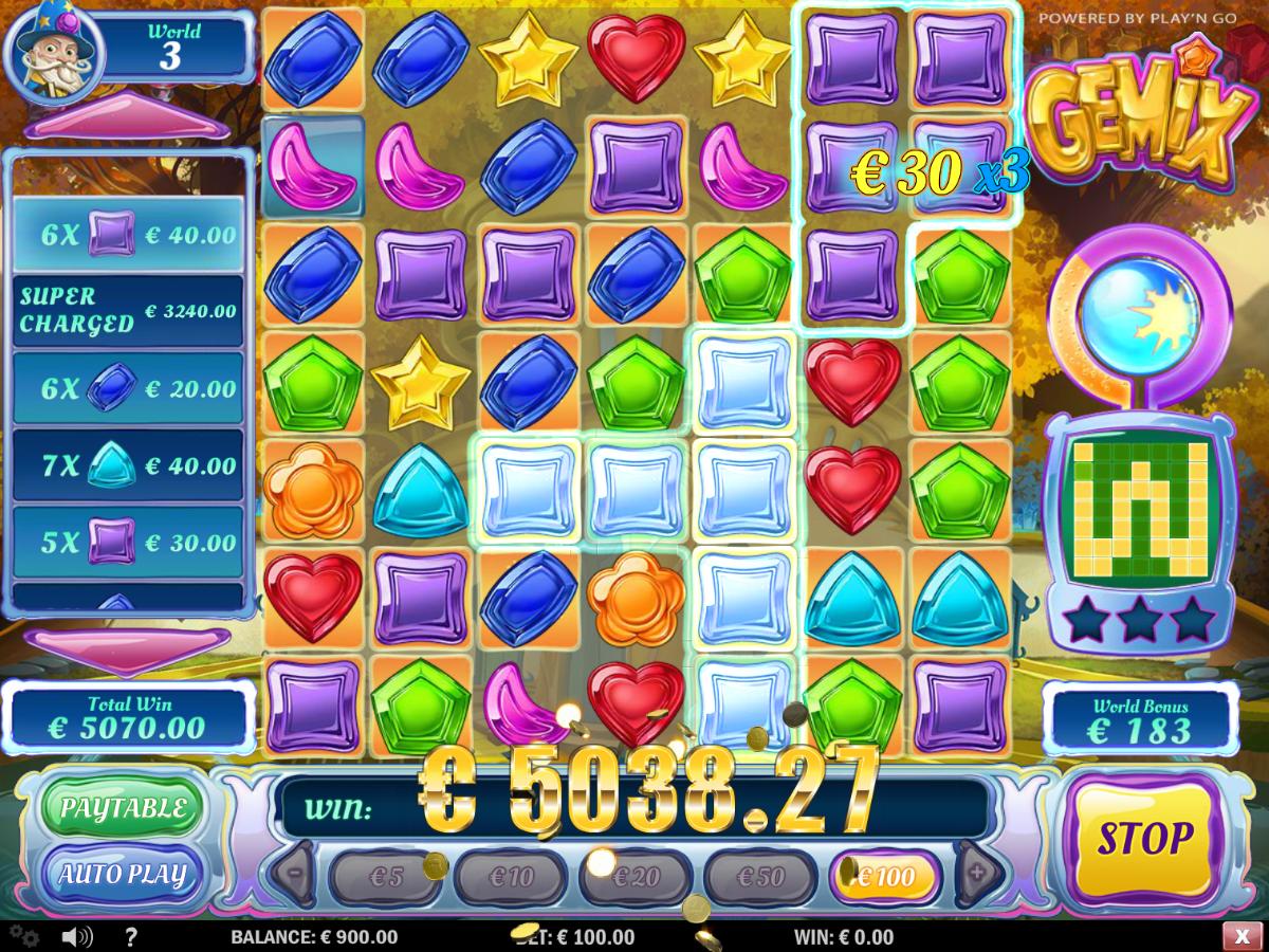 GEMiX slot game 5038.27 win