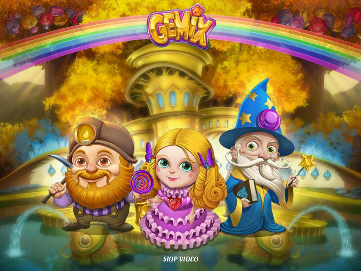 Gemix slots cartoony characters
