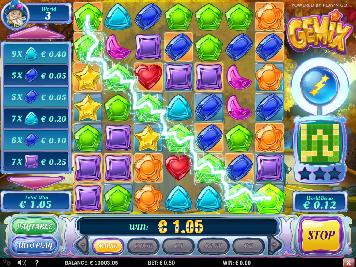 Gemix slots game gives you Crystal Charge