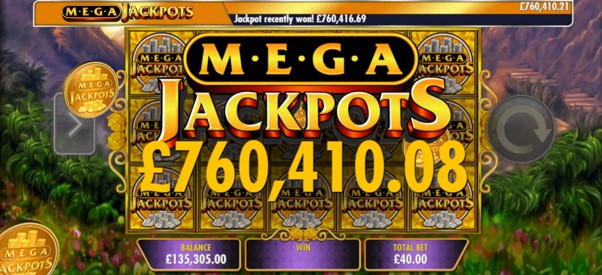 Here's what you'll see if you win the MegaJackpots progressive prize