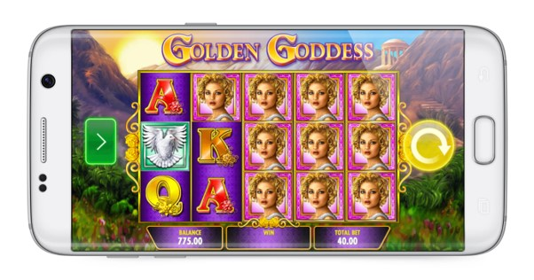 Play Golden Goddess mobile slots on iPhone and Android at PlayOJO