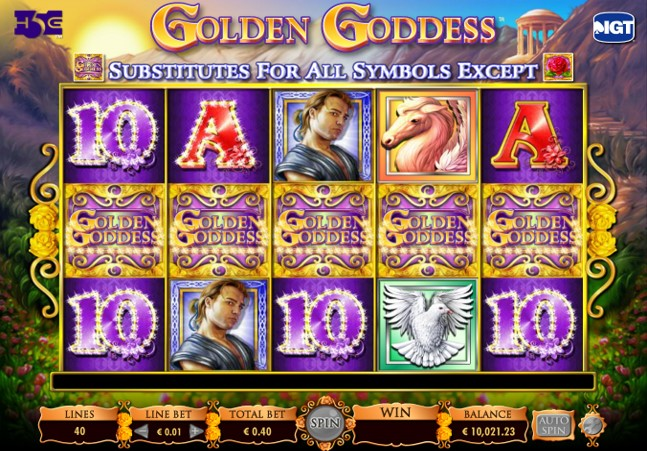 Golden Goddess wild symbols can appear at any time to create big wins