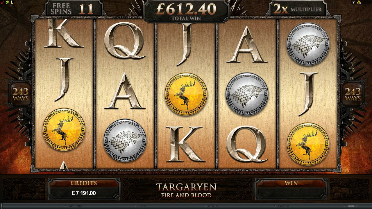 Game of Thrones online slots symbols