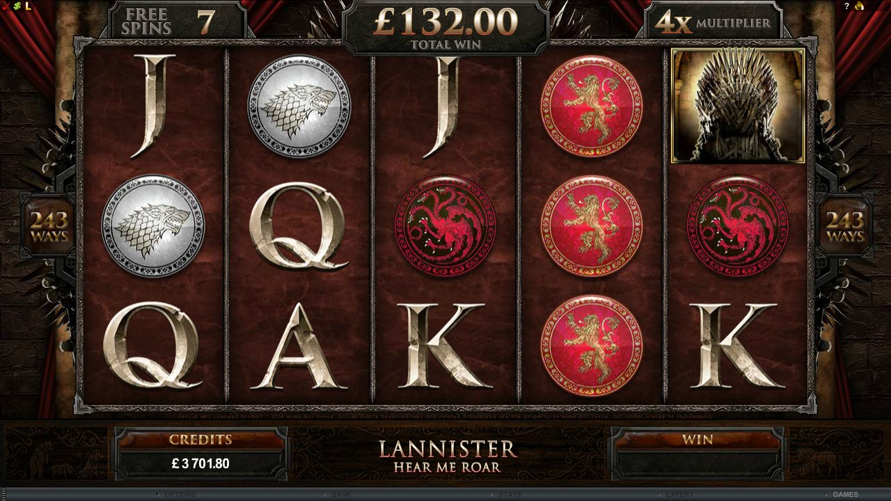 Game of Thrones slots game - the Aeron chair