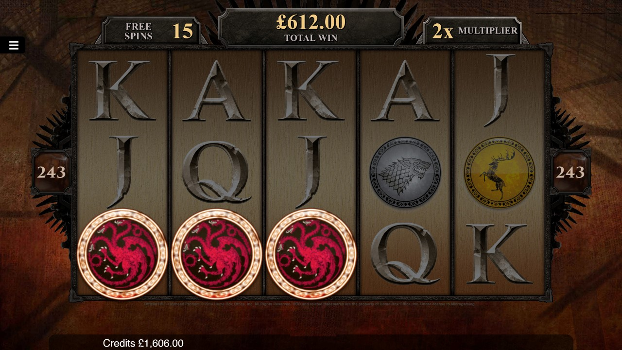 243 ways to win on mobile-Game of thrones slots game