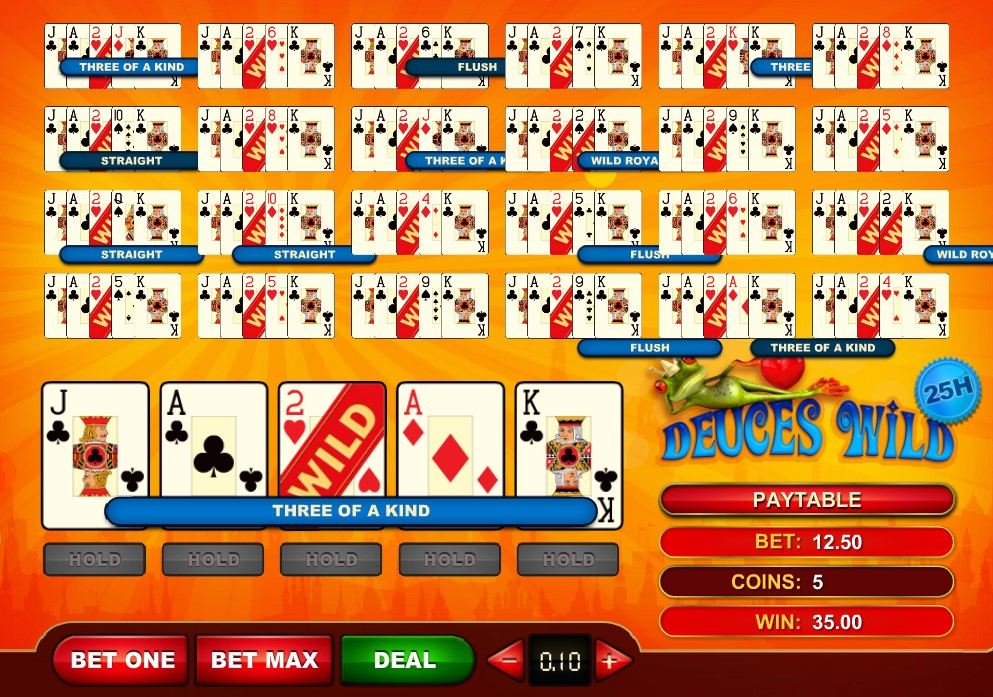 25-hand GVG video poker game