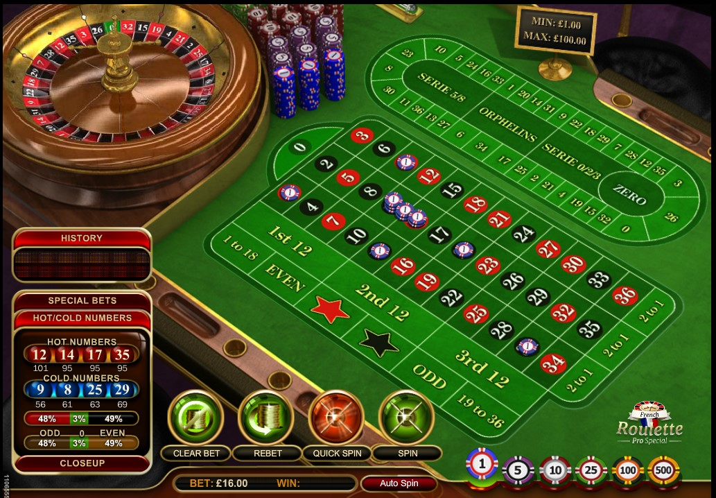 GVG French Roulette Pro Special online casino game