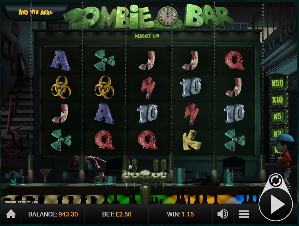 GVG's Zombie Bar video slot game