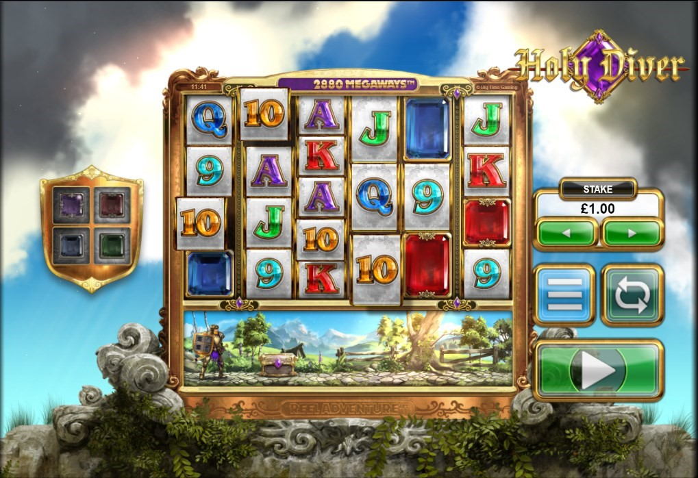 Holy Diver video slot with Megaways and Reel Adventure features