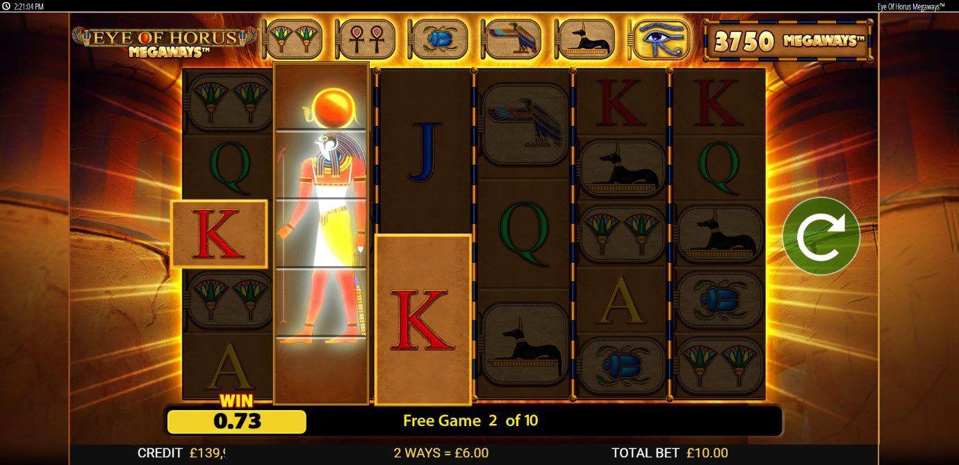 Enhance your Free Spins wins with Horus Wilds