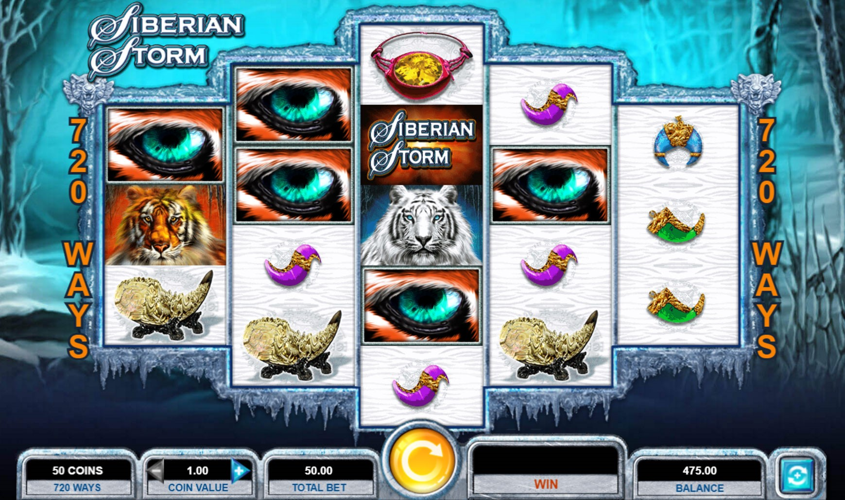 Siberian Storm 720 Ways video slot by IGT