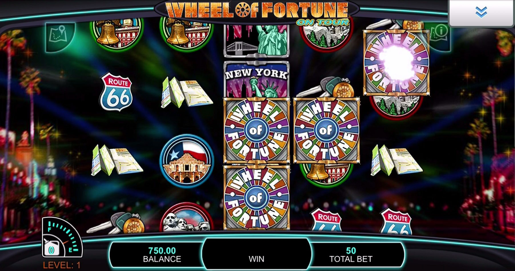 Mystery Wilds appear during Wheel of Fortune On Tour video slot game at PlayOJO