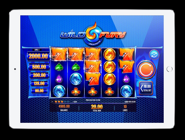 Play the Wild Fury Jackpots slot on iPad at PlayOJO casino