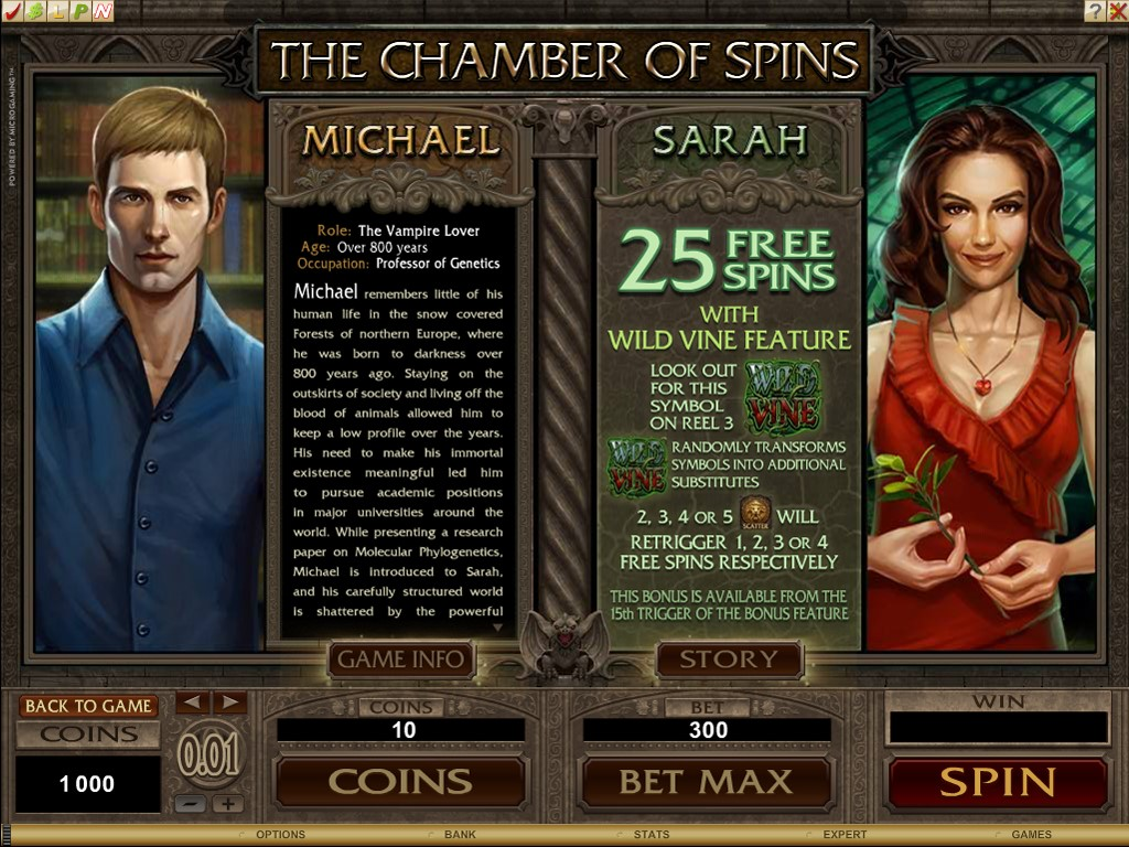 Immortal Romance – The Chamber of spins: Michael and Sarah