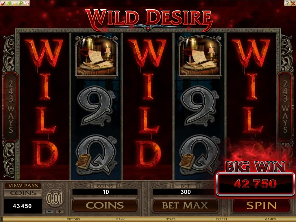 Wild Desire can turn entire reels Wild
