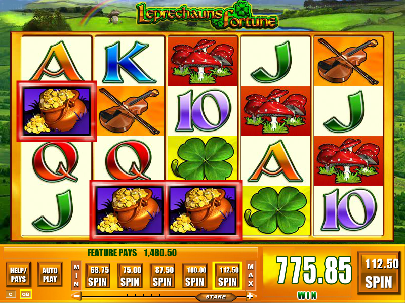 win free spins at Leprechaun's Fortune slots game
