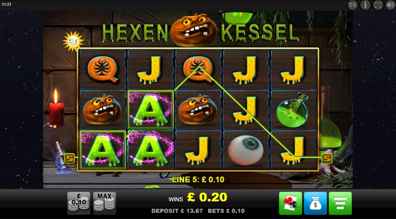 Hexen Kessel slot game from Merkur Gaming
