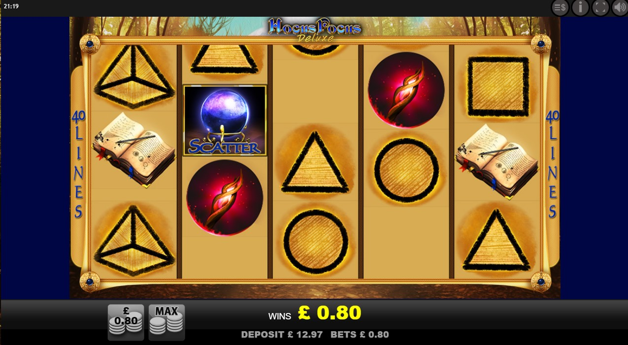 Cascading symbols during Hocus Pocus online slot spin