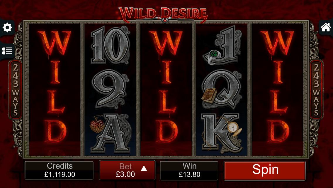 Wild Desire bonus feature from Immortal Romance slot on mobile