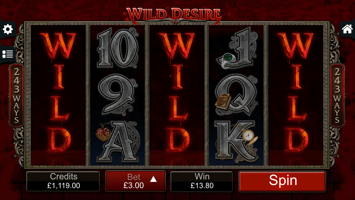 Wild Desire bonus feature from Immortal Romance slot on mobile